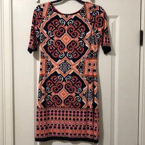 Eliza J patterned shift dress NEVER WORN